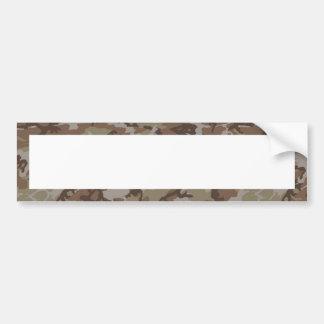 Woodland Desert Camouflage (with White) Bumper Sticker