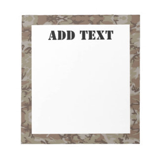 Woodland Desert Military Camouflage Notepad