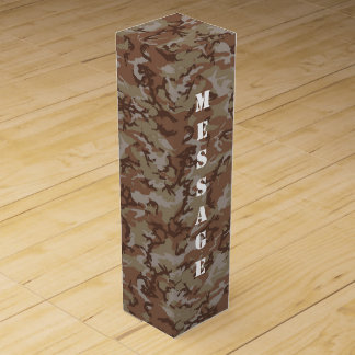 Woodland Desert Military Camouflage Pattern Wine Box