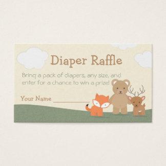"Woodland ""Diaper Raffle"" Business Card"