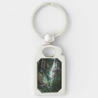 Woodland Fairies and Waterfall Castle Key Ring