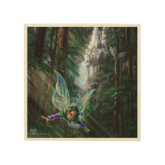 Woodland Fairies and Waterfall Castle Wood Wall Art