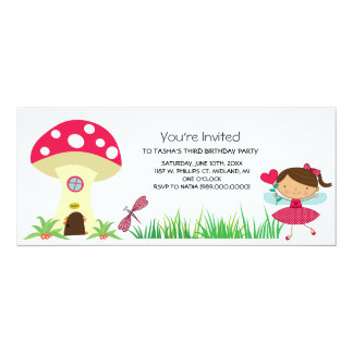 Woodland Fairy Birthday Party Invitations
