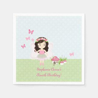 Woodland Fairy Princess Disposable Serviettes