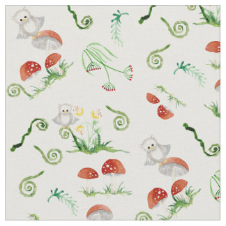 Woodland Fairytale Creatures Baby Neutral Nursery Fabric