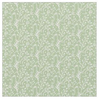 Woodland Fairytale Fern Swirl Baby Girl Nursery Fabric