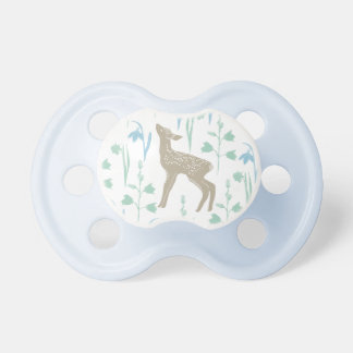 Woodland Fawn Baby Deer Pattern Blue Dummy