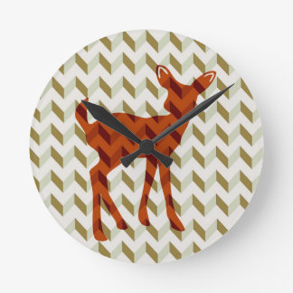 Woodland Fawn Wall Clock