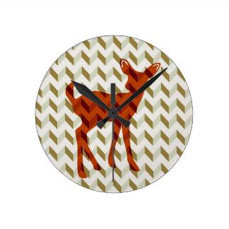 Woodland Fawn Wall Clock