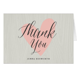 Woodland folded thank you notecard