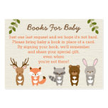 Woodland Forest Animal Book Request Cards Pack Of Chubby Business Cards