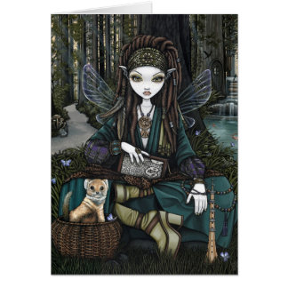 Woodland Forest Fairy Bohemian Dreadlocks Zoti Card