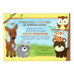 Woodland Forest Friends Baby Shower Invitations 13 Cm X 18 Cm Invitation Card