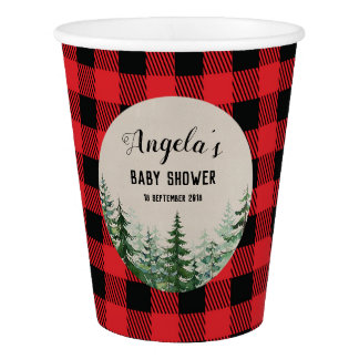 Woodland Forest Lumberjack Party Paper Cups