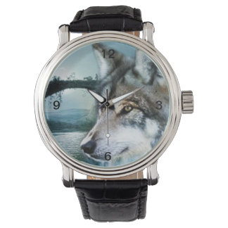 woodland forest moonlight full moon wolf watch