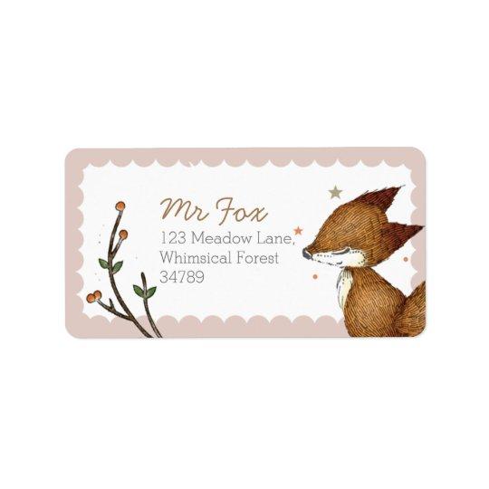 Woodland Fox Address Labels