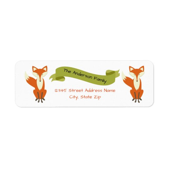 Woodland Fox - Address Labels