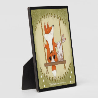 Woodland Fox and Bunny Swing Plaque