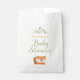 Woodland Fox Baby Shower Favor Bags Favour Bags