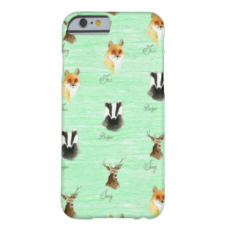 Woodland fox badger stag deer print hipster foxes barely there iPhone 6 case
