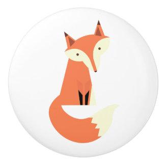 Woodland Fox Ceramic Knob