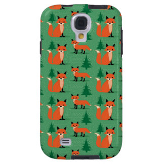 Woodland fox cute retro whimsical hipster foxes galaxy s4 case