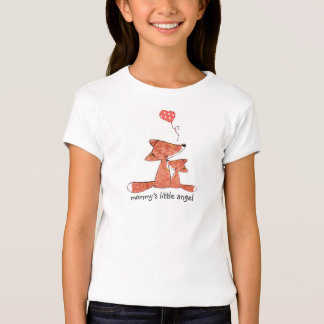 Woodland Fox Fitted Girl's T-shirt