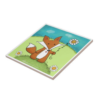 Woodland Fox Little Love for You Tile