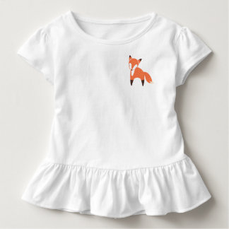 Woodland Fox Toddler Ruffle Tee