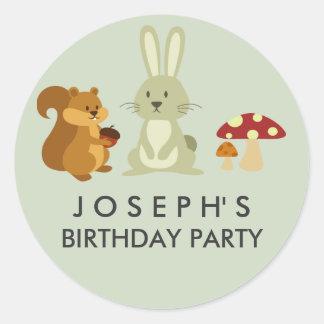 Woodland Friends Birthday Sticker
