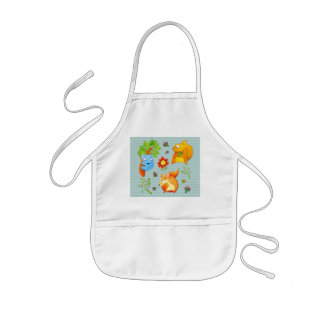 Woodland Fun aqua Kids Apron