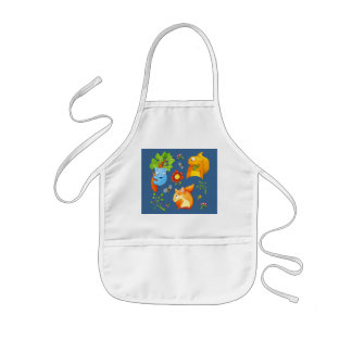 Woodland Fun blue Kids Apron