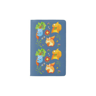 Woodland Fun blue Notebook Cover