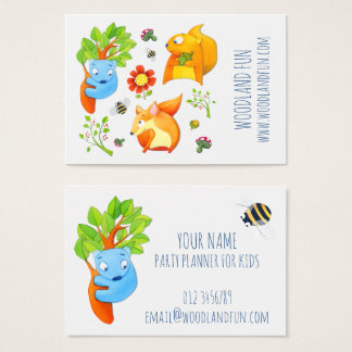 Woodland Fun Kids Party Planner Business Card
