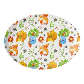 Woodland Fun Porcelain Coupe Platter