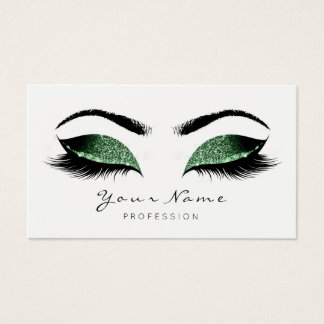 Woodland Glitter Makeup Artist Lash Black White Business Card