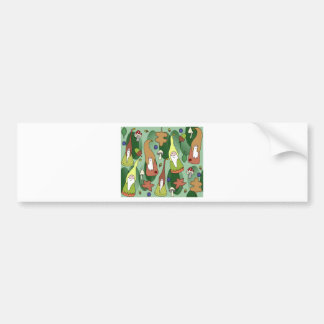 Woodland Gnomes Bumper Sticker