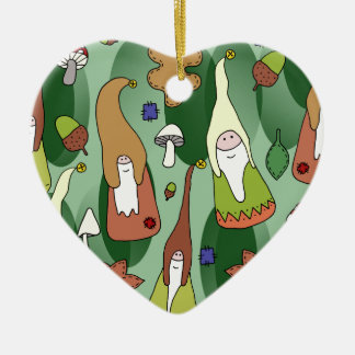 Woodland Gnomes Ceramic Ornament