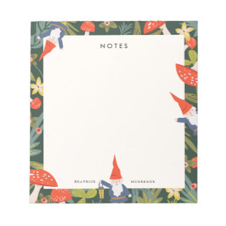 Woodland Gnomes Notepad