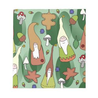 Woodland Gnomes Notepad