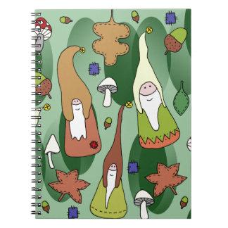 Woodland Gnomes Spiral Notebook