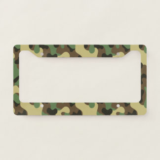 Woodland Green and Brown Camouflage. Camo your Licence Plate Frame