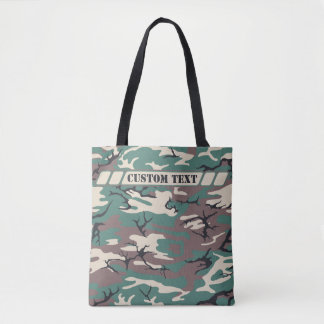 Woodland Green Camo Tote w/ Custom Text
