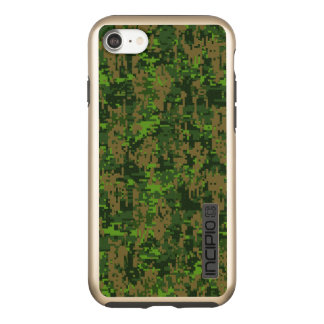 Woodland Green Digital Camouflage Decor on a Incipio DualPro Shine iPhone 8/7 Case