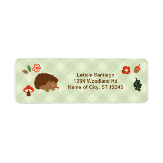 Woodland Hedgehog Label
