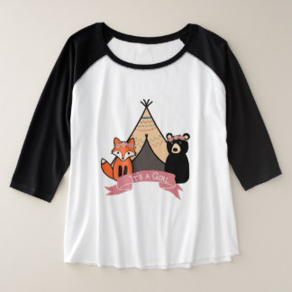 "Woodland ""It's a Girl"" Shirt Plus Size"