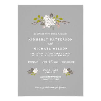 Woodland Love Floral Wedding Invitation