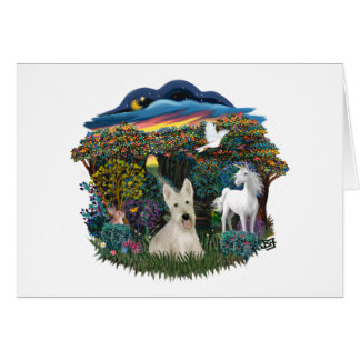 Woodland Magic - Wheaten Scottish Terrier Card