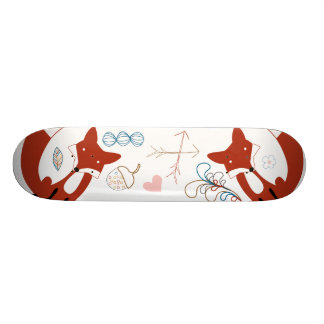 Woodland Modern Fox Arrows Acorn Leaf Pattern 20 Cm Skateboard Deck