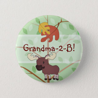 Woodland Moose Button